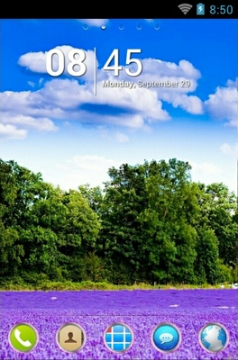 android theme 'Lavender Field'