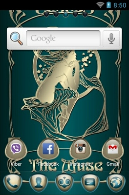The Muse android theme home screen