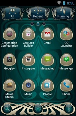 The Muse android theme application menu
