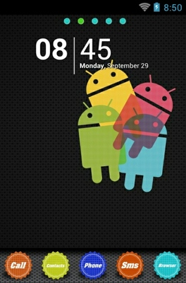 android theme 'Colorful Droid Circles'
