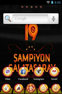 Galatasaray Sk android theme home screen