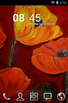 android theme 'Poppie Painting'