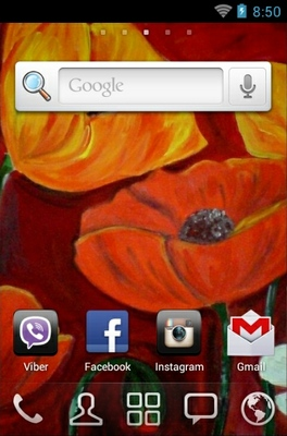 Poppie Painting android theme home screen