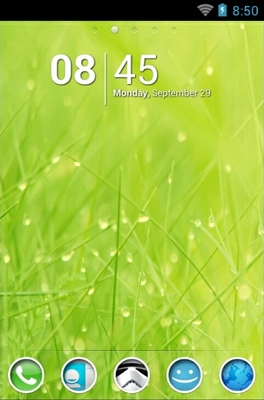 android theme 'Wet Grass'