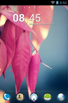 android theme 'Pink Leaves'