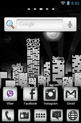 Droid City android theme home screen