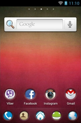 Pink Texture android theme home screen