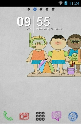 android theme 'Colorful Summer'