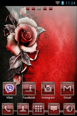 android theme 'Red Rose'