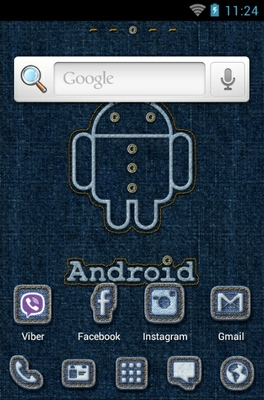 Android Stitch android theme home screen