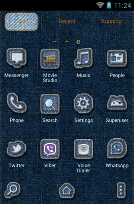 Android Stitch android theme application menu
