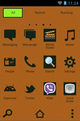 Droid Music android theme application menu