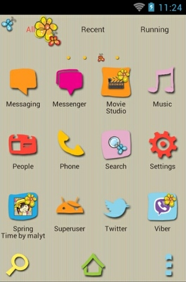 Spring Time android theme application menu