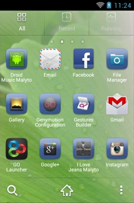 Spring android theme application menu