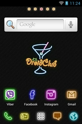 Droid Club android theme home screen