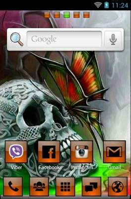 Skullie android theme home screen