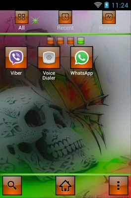 Skullie android theme application menu