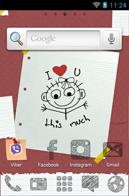 I Love You So Much android theme home screen