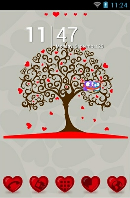 android theme 'Tree Of Hearts'