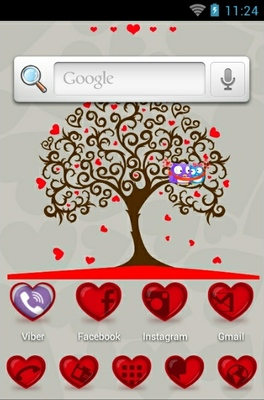 Tree Of Hearts android theme home screen