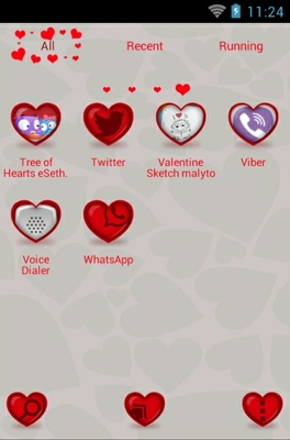 Tree Of Hearts android theme application menu