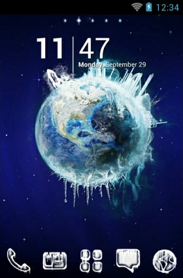 Planet Ice android theme