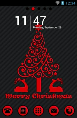 android theme 'Red Christmas'