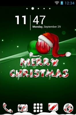 android theme 'Icy Christmas Green'