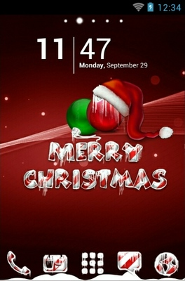 android theme 'Icy Christmas Red'