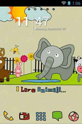android theme 'I Love Animals'