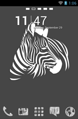 android theme 'Zebra Art'