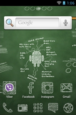 Learning Android android theme home screen