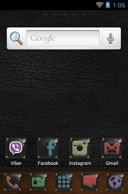 Be Original android theme home screen