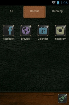 Be Original android theme application menu