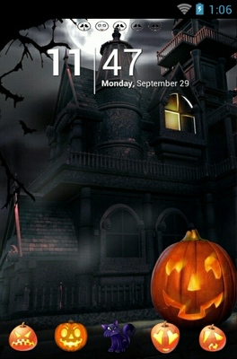 android theme 'Happy Halloween Night'