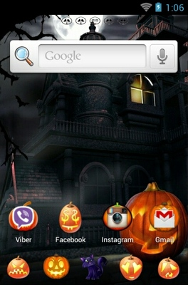 Happy Halloween Night android theme home screen