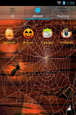 Happy Halloween Night android theme application menu