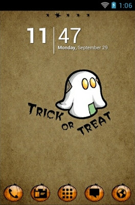 android theme 'Halloween Boo'