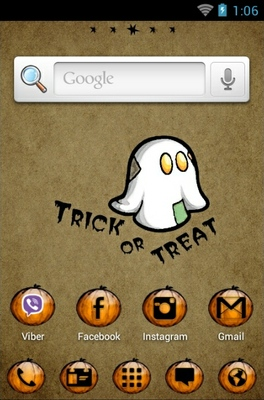 Halloween Boo android theme home screen