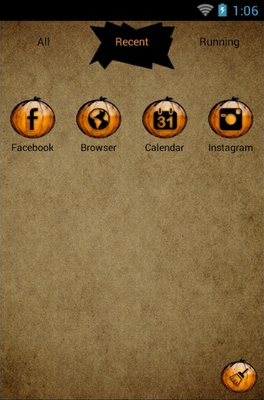 Halloween Boo android theme application menu