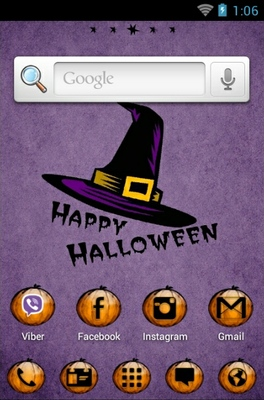 Happy Halloween android theme home screen