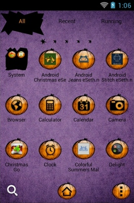 Happy Halloween android theme application menu