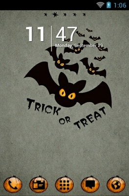 android theme 'Halloween Bats'