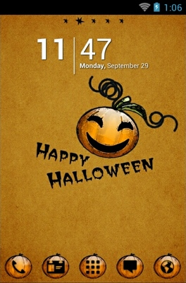 android theme 'Halloween Pumpkin'