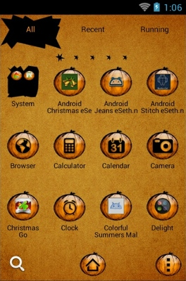 Halloween Pumpkin android theme application menu