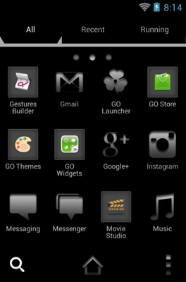 Lamborghini android theme application menu