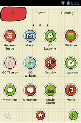 Tom And Jerry android theme application menu