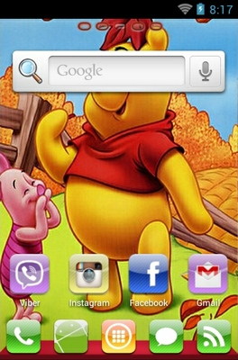 Winnie The Pooh android theme home screen