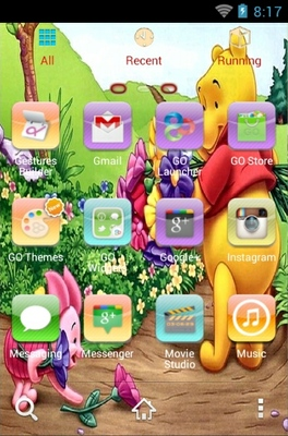 Winnie The Pooh android theme application menu