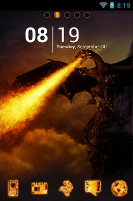 android theme 'Dragon Fire'